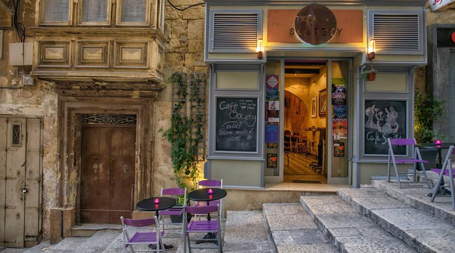 Valletta Bars - Cafe Society